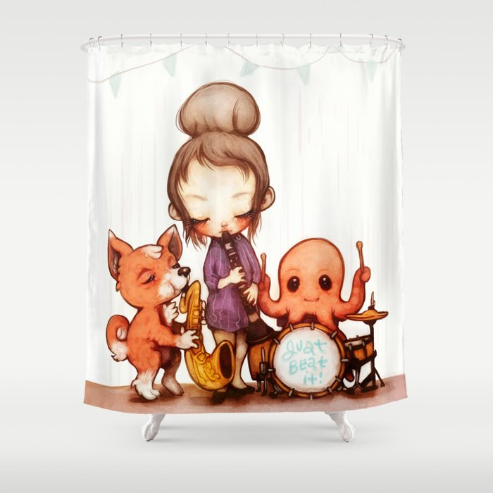 Jam Band Shower Curtain By FlyOkay