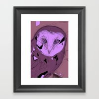 PURPLE OWL Framed Art Print