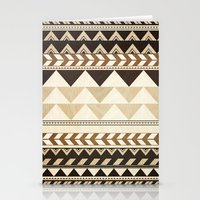 Woodwork Pattern Stationery Cards