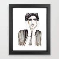 Fashion Sketch In Marker… Framed Art Print