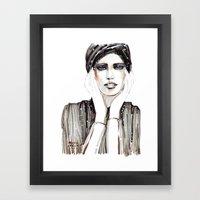 Fashion Sketch In Marker… Framed Art Print