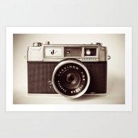 camera Art Prints featuring Camera by Tuky Waingan