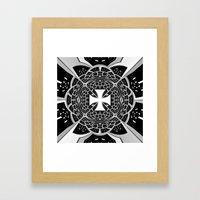 Cross pattée Framed Art Print