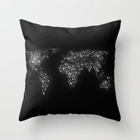 Tiny light spec in the great big universe Throw Pillow