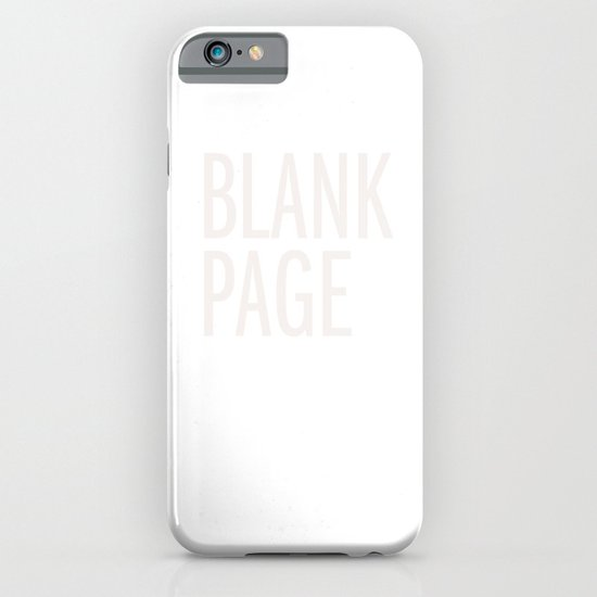 Blank Page iPhone & iPod Case