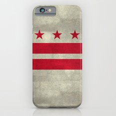 Washington D.C flag with worn vintage textures Slim Case iPhone 6s