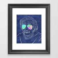Albert wears his sunglasses at night Framed Art Print