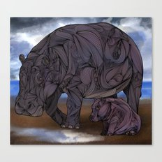 Hippos Canvas Print