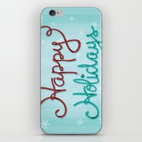 Holiday Ribbon iPhone & iPod Skin