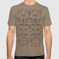 Abstraction Mirrored Mens Fitted Tee Tri-Coffee SMALL