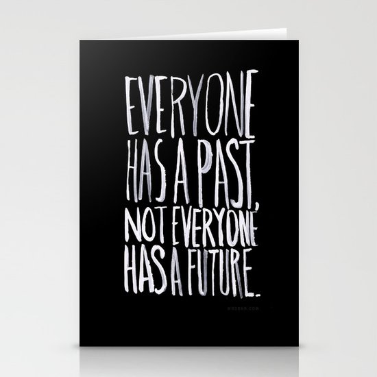Past/Future Stationery Card