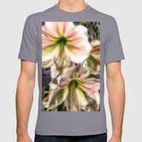 Abstract Amaryllis In A … Mens Fitted Tee Slate SMALL