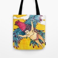 Lazy Tarzan - Flying Tote Bag
