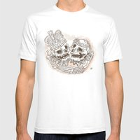 DEAD ROYALTY Mens Fitted Tee White SMALL