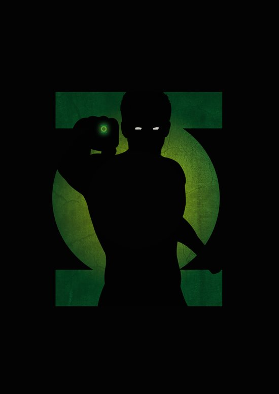 SuperHeroes Shadows : Green Lantern Art Print