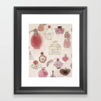 Pefume Collection Framed Art Print