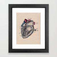 My Heart Beats For You Framed Art Print