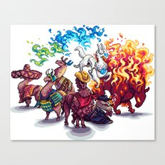 Team Llama – To the Rescue! Canvas Print