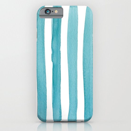 Watercolor Juicy Strokes: Teal iPhone & iPod Case