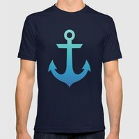 Nautical Knots Ombre Mens Fitted Tee Navy SMALL