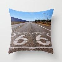Historic Route 66 Throw Pillow