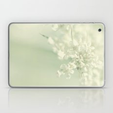 White Blooms Laptop & iPad Skin