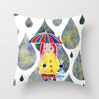 Miranda Holds The Sky In… Throw Pillow