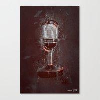DARK MICROPHONE Canvas Print