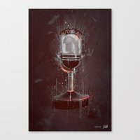 DARK MICROPHONE Canvas Print