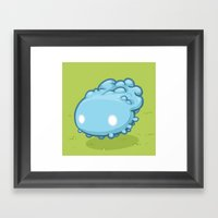 Marshmallow Blob Framed Art Print