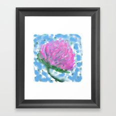 Pink Clover Flower Framed Art Print