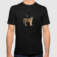 Tiger Mens Fitted Tee Tri-Black SMALL