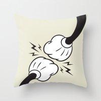 Fist Bump! Throw Pillow