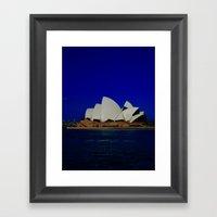 Sydney Opera Blues DPG15… Framed Art Print