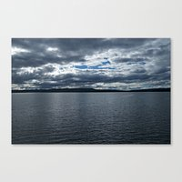 Clouds Over Yellowstone Lake Canvas Print