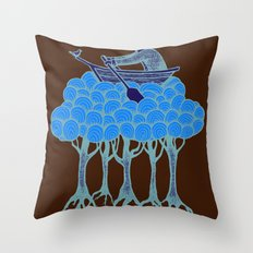 Sailing the High Trees Throw Pillow