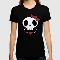 Punk Rawk Girl Womens Fitted Tee Black SMALL