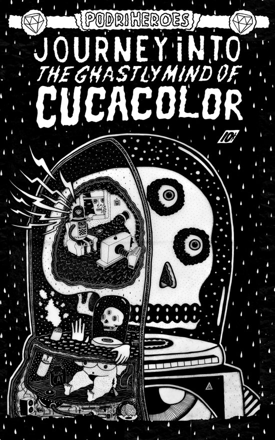 journey in to the ghastly mind of cucacolor Art Print
