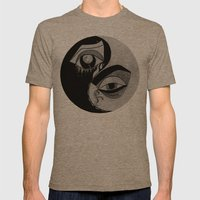 Ying Yang Mens Fitted Tee Tri-Coffee SMALL