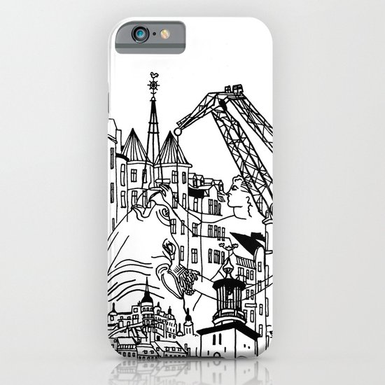 Three City Silhouettes iPhone & iPod Case