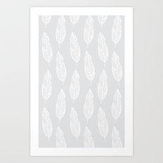 grey feather Art Print