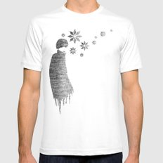 Winter White SMALL Mens Fitted Tee