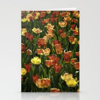 A sea of spring tulips Stationery Cards