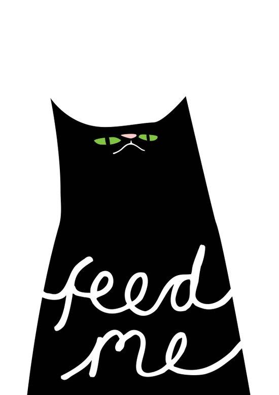 feed me Art Print