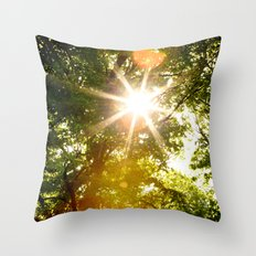 The Sun's Rays Throw Pillow