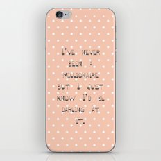 I've never been a millionaire ~ Polka Dots ~  poster ~ typography ~ illistration iPhone & iPod Skin