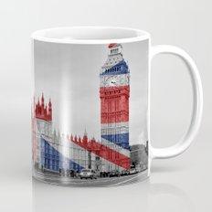 Big Ben, London Bus and Union Jack Flag Mug