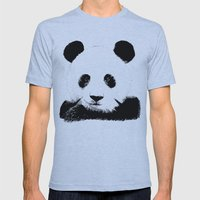 Red Panda Mens Fitted Tee Athletic Blue SMALL