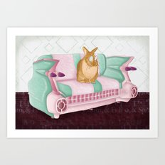 Bunny Business Art Print