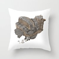 Space Bird Throw Pillow